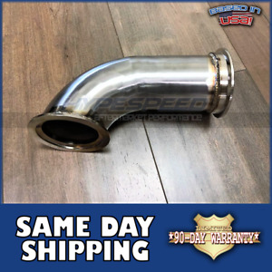 3 V band Stainless 90 Degree Diy Elbow Downpipe Exhaust Turbo Flange