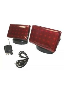Rechargeable 24 Led Wireless Tow Light Truck Towing Magnetic Cordless Light Kit