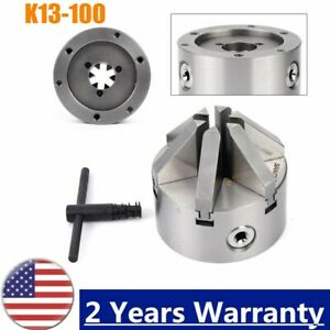 K13 100 Steel Lathe Chuck 6 Jaw 4 Self Centering Jaws For Drilling Milling Cnc