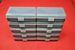 BERRY'S PLASTIC AMMO BOXES (10 SMOKE) 50 Round 9MM  380 FAST SHIPPING