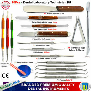 18 Pcs Basic Dental Wax Modeling Clay Sculpting Modelling Tools Professional Set