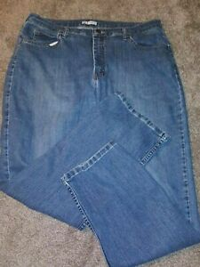 Women's Lee Riders Classic Fit Straight Leg Stretch Blue Jeans Size 18 M