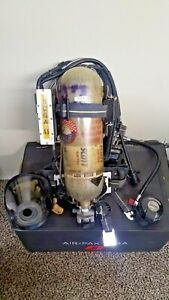 Scott Scba Ap50 Air Pack Cylinder Mask W Hud 4 5 4500psi Pass 2002 Edition