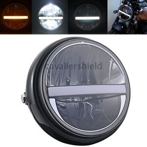 Motorcycle Universal Front Black 7 Inch High Low Beam Lamp Led Round Headlight
