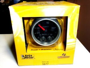 Autometer 5677 Elite Series 2 1 16 Boost Vacuum Gauge Kit 30psi 7 Color Warning
