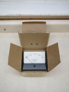New Simpson 1329 4 1 2 Wide vue 0 150 Ac Amperes 0 150a Panel Meter Ammeter