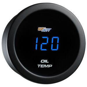 Refurbished Glowshift Blue Led Digital Oil Temperature Gauge W Sensor