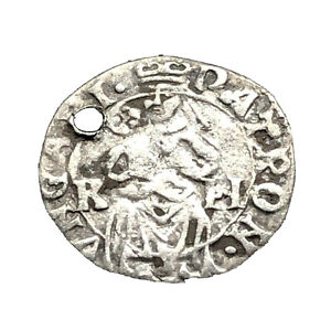 Authentic Medieval European Silver Coin Rh Rare Middle Ages Artifact Old C7
