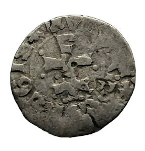 Authentic Late Post Medieval European Silver Coin Middle Ages Artifact Old C9