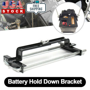Adjustable Universal Car Crossbar Battery Hold Down Bracket Holder Storage Rack