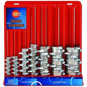 Hose Clamp Assortment Kit Stainless Steel Spring Clip Water Fuel Tube Pipe 70pc