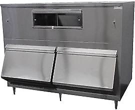 Ice Machine Bin 2 door Upright Bumper 2750lb Stainless Made Usa