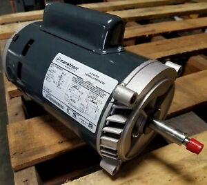 New Marathon 1 Hp 1 Phase Motor 5kc39rn45hx 115 230 Volt 3450 Rpm