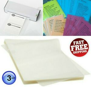 100 Thermal Laminating Pouches 3 Mil Heat Seal A4 Letter Size 8 5 X 11 Sheets
