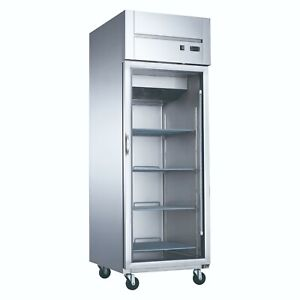 New Dukers D28ar gs1 Top Mount One Glass Door Commercial Reach in Refrigerator