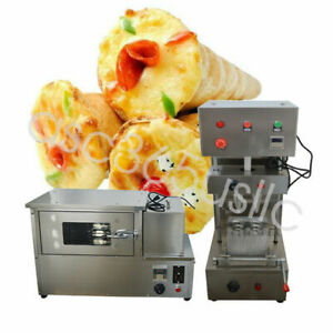 110v Commercial Pizza Cone Forming Making Machine Spiral Shape Rotational Oven