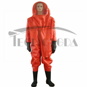 Fully Enclosed Chemical Protective Anti liquid ammonia Suit Heavy Type