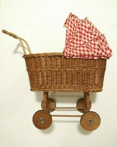 Baby Doll Carriage Vintage Collectible Doll Stroller Unique