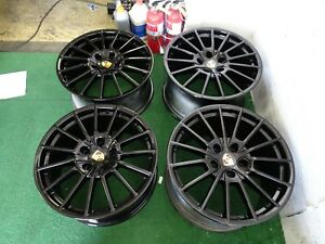 Porsche Panamera Sport Plus Oem Factory 20 Wheels Rims Gloss Black Gts 5x130