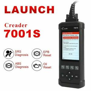 Launch X431 Cr7001s Obd2 Reader Diagnostic Tool Scanner Epb Oil Abs Srs As Vii