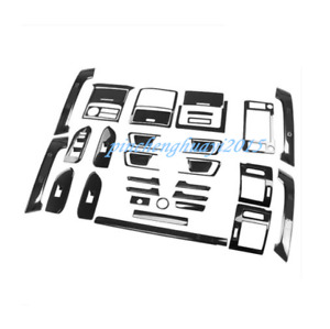 Black Titanium Car Interior Kit Cover Trim For Toyota Prado Fj150 2018 2019