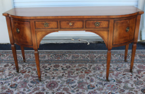 A Fine Inlaid Mahogany Baker Furniture Federal Style Sideboard Naples Estate