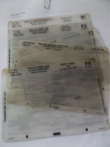 Microfiche Reader With Ford Parts Fiche Listings 1948 Trucks 1949 Cars 1990