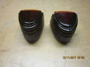 Vintage Glass Tail Light Lenses Circa 30 s 40 s Fits Packard Hupmobile