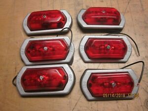 Dietz Vintage Red Clearance Lights Circa 60 s 70 s Tractor Trailer