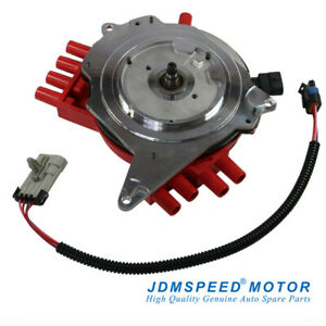 Jdmspeed Red Ignition Distributor With Wire Harness For Chevy Pontiac 10457702
