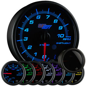 Slightly Used Glowshift Tinted 7 Color 3 3 4 In Dash Tachometer Gauge