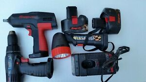 Snap on Cordless 1 2 Impact Wrench Ct350 Drill Crd3450 14 4 18v Battery More