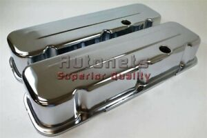 Big Block Chevy 454 Chrome Steel Valve Covers Tall Bbc 396 402 427 502 Hot Rod