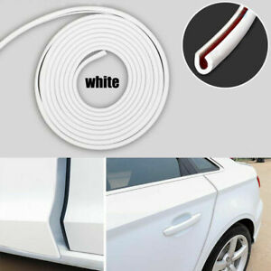 White Rubber Seal Door Edge Guard Mold Trim Protection Strip For Car Vehicle 5m