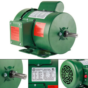 1 2 Hp Single Phase Farm Duty Electric Motor 56 Frame 1800 Rpm Tefc Enclosure