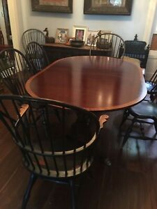 Last Price Drop Mahogany Double Pedestal Dining Table