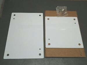 2 Saginaw Control Electric Enclosure Panel Back Plates 9 X 9 13 X 9