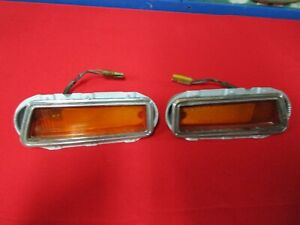 1970 Charger And Coronet Super bee Front Side Marker Pair Original With Bracket