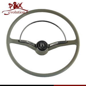 Steering Wheel Chrome Ring Button For Vw Volkswagen Beetle 1955 1965