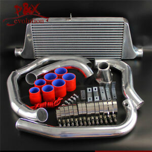 Red Fmic Front Mount Intercooler Kit For Rx7 Fc Fc3s 13b Single Turbo 86 91