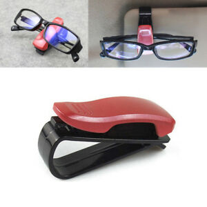 Red Car Sun Eye Glasses Glass Shield Visor Cards Holder Clip Folder Tool Carrier