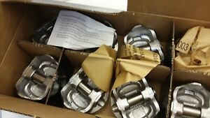 Speed Pro H860cp Piston 383 Chevy Flat Top 1 80 From Top Of Head Set Of 8 Nib