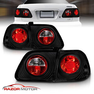 99 00 Honda Civic Ek Dx Ex Gx Lx Sedan 4dr Jdm Black Blk Tail Lights Lamps New