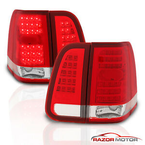 2003 2004 2005 2006 Lincoln Navigator Red Clear Led Brake Tail Lights Pair