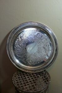 Vintage Silver Plate Serving Tray Wm Rogers 172