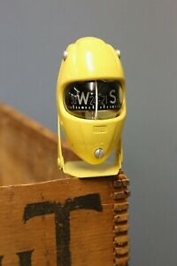 Vintage 1930s 40s Hull Car Compass Dash Accessory Rare Yellow Chevy Ford Pontiac