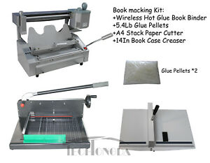 Glue Binding Binder Machine paper Creaser Paper Cutter For Printing Shop
