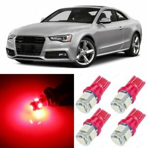 14 X Ultra Red Interior Led Lights Package For 2008 2016 Audi A5 S5