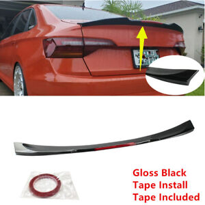 Fit For Vw Jetta Mk7 2019 2021 Sedan Black Rear Trunk Lip Spoiler Wing Red Trim