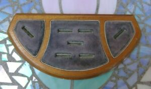 Vintage Purple Blue Velvet Multiple Ring Presentation Display Case Tray 7 Slots